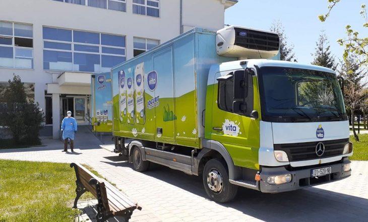 Qumështorja Vita ndihmon Klinikën e Infektivës