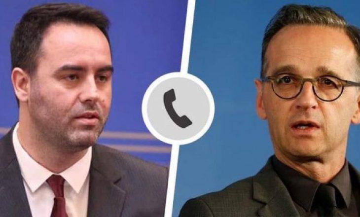Glauk Konjufca tregon për çfarë biseduan në telefon me ministrin e Jashtëm të Gjermanisë