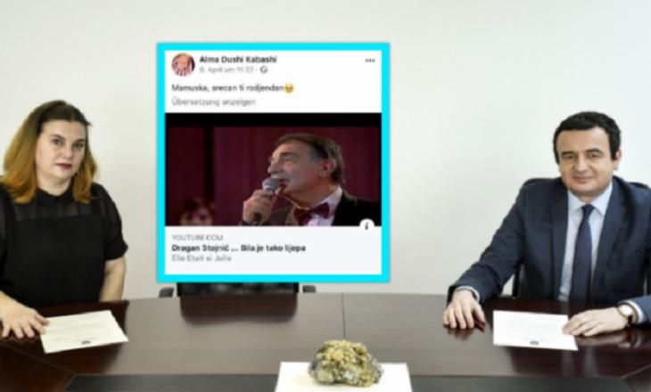 E emëruara nga Kurti si zëvendësministre, shpërndanë këngë serbe në Facebook