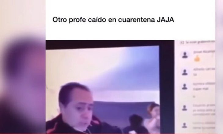 Mësuesi po komunikonte online me studentët, gruaja e tij del nudo duke mos e ditur çfarë po ndodh