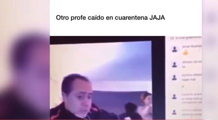 Mësuesi po komunikonte online me studentët  gruaja e tij del nudo duke mos e ditur çfarë po ndodh