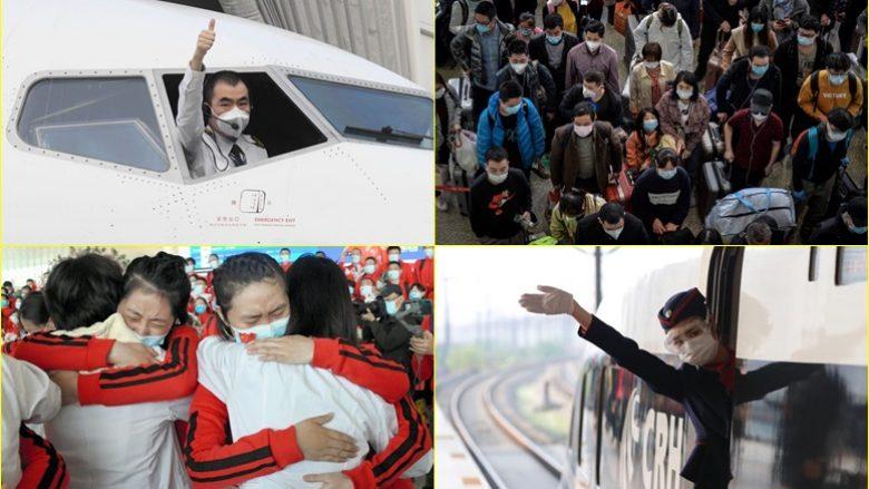 Fotografitë që tregojnë se si makinat  aeroplanët dhe trenat  po nxitonin  për tu larguar nga Wuhan  qendra e Covid 19