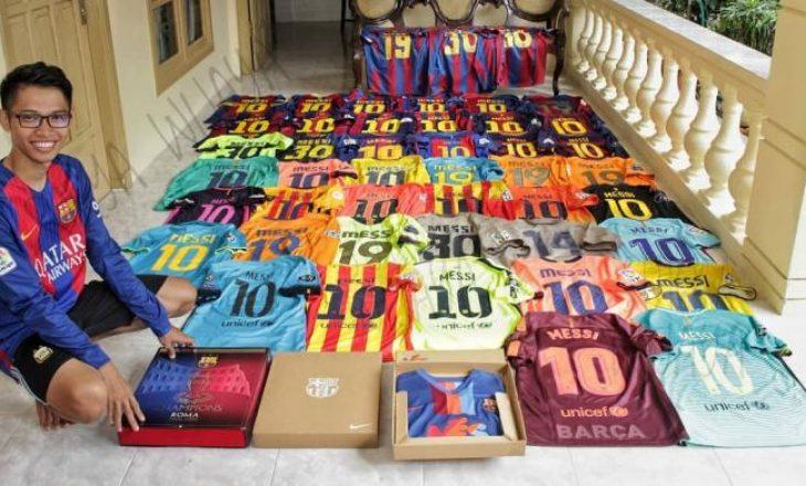 Ky është personi që ka koleksionuar 200 uniforma të Barcelonës dhe Argjentinës