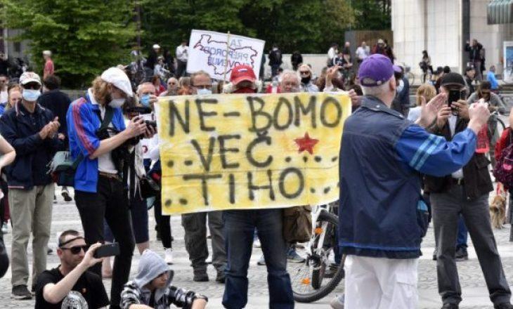 Në Slloveni protestohet kundër karantinës dhe qeverisë