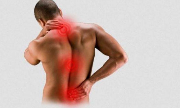 Gjashtë shkaqet e zakonshme të dhimbjes së shpinës