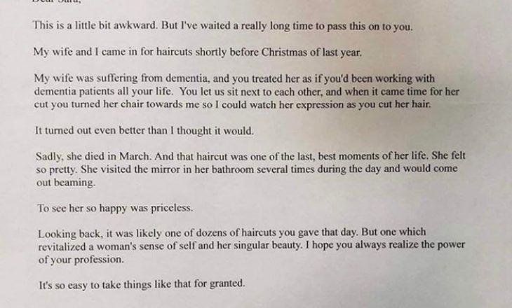 Kjo letër mund të jetë shkrimi më prekës që keni lexuar së fundmi