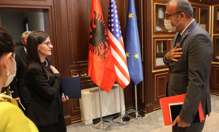 Meliza Haradinaj – Stublla ka pritur në takim ambasadorin turk Cagri Sakar