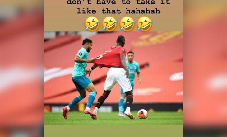 Paul Pogba tallet me lojtarin e Bournemoth