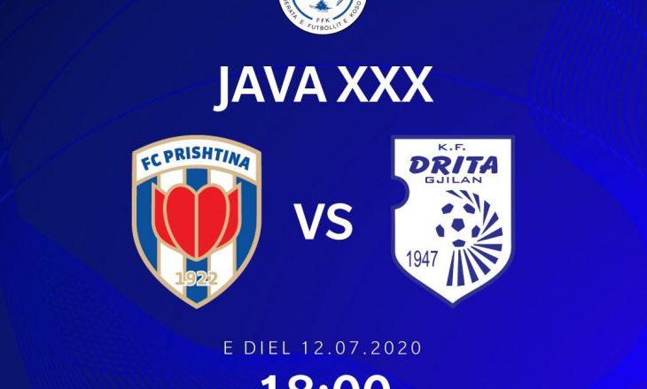 Sot kemi një super ndeshje në Superligën e Kosovës në Futboll