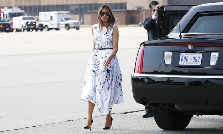 Interneti po tallet me fustanin 2.400 dollarësh të Melania Trump-it