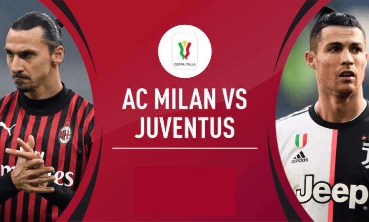 Ac Milan vs Juventus, formacionet zyrtare (FOTO)