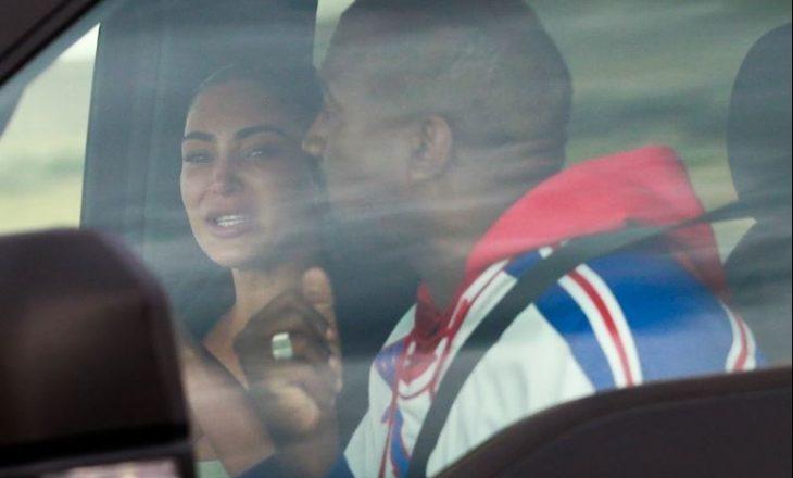 Kim Kardashian shpërthen në lot gjatë një takimi me bashkëshortin e saj