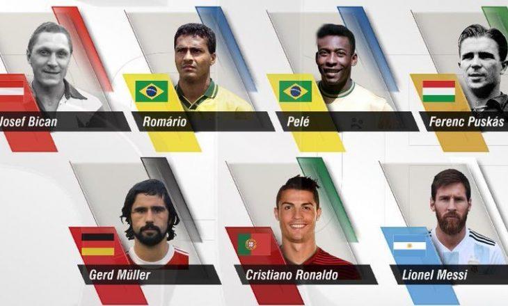 Vetëm këta shtatë futbollistë i kanë mbi 700 gola