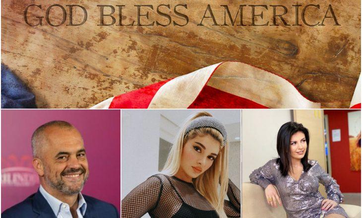 """""""God Bless America"""" Era Istrefin, Edi Ramën dhe Rudina Dembacajn"""