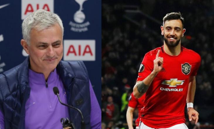 Jose Mourinho thumbon Bruno Fernades dhe referimin në Angli