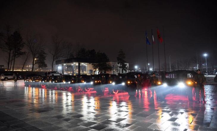Thaçi: Ushtrisë së Kosovës i është shtuar një kontingjent prej 42 automjetesh amerikane