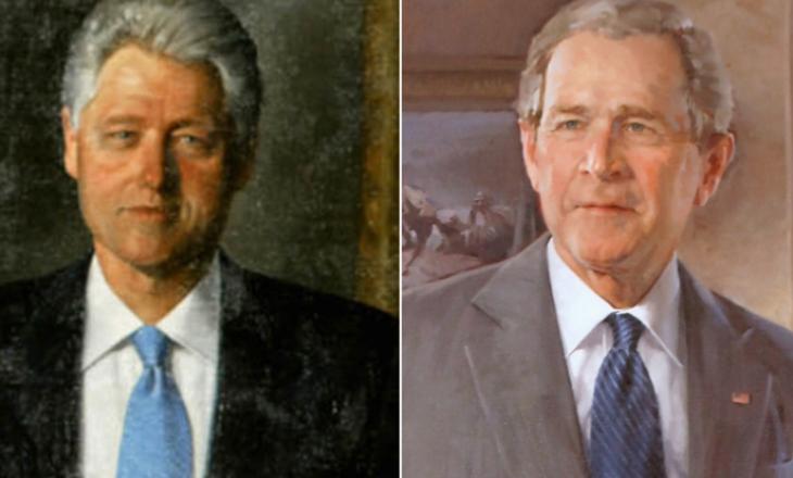 Trump ua largon portretet nga Shtëpia e Bardhë Clinton-it e Bush-it