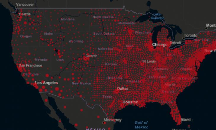 SHBA: Mbi 50.000 infeksione të reja brenda një dite