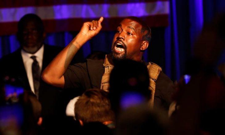 """Kanye West në tubimin e parë elektoral: """"Çdokush që ka një fëmijë merr një milion dollarë"""""""