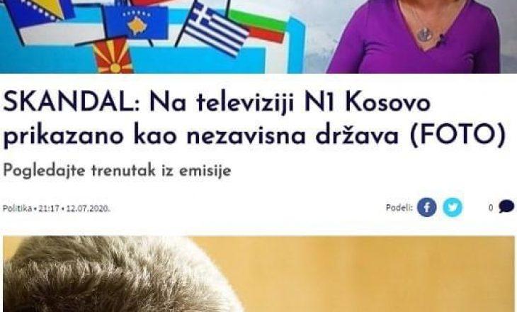 Një televizion në Serbi e prezanton Kosovën si shtet të pavarur – mediat tjera e quajnë skandal