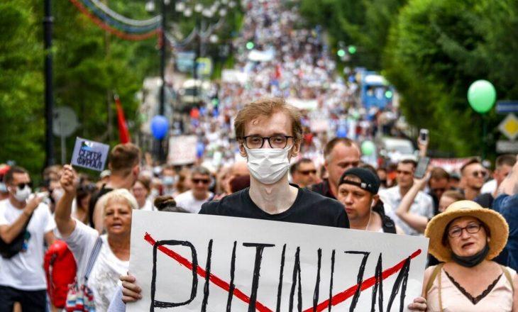 Protesta në Rusi: Pakënaqësi në veprimet e Putinit