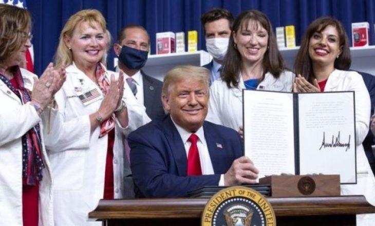 """Trump me katër vendime ekzekutive që """"do ta ndryshojnë tregun e barnave ne SHBA"""""""
