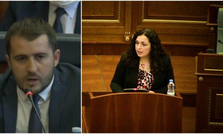 """Mërgim Lushtaku e quan Vjosën """"Sherife Osmani"""" – kryeparlamentarja i përgjigjet"""