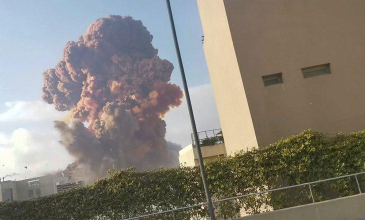 """Video """"LIVE"""" që tregon dëmet e shkaktuara nga shpërthimi masiv në Beirut"""