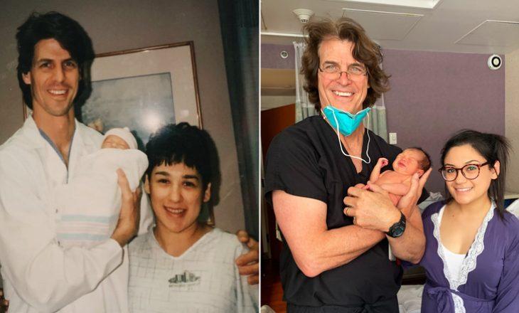 Mjeku që asistoi në lindjen e një bebeje, 25 vjet më parë kishte asistuar edhe në lindjen e nënës – në të njëjtin spital