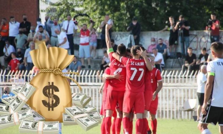 Sa ka fituar financiarisht ekipi i Gjilanit, pas fitores ndaj Tre Penne?