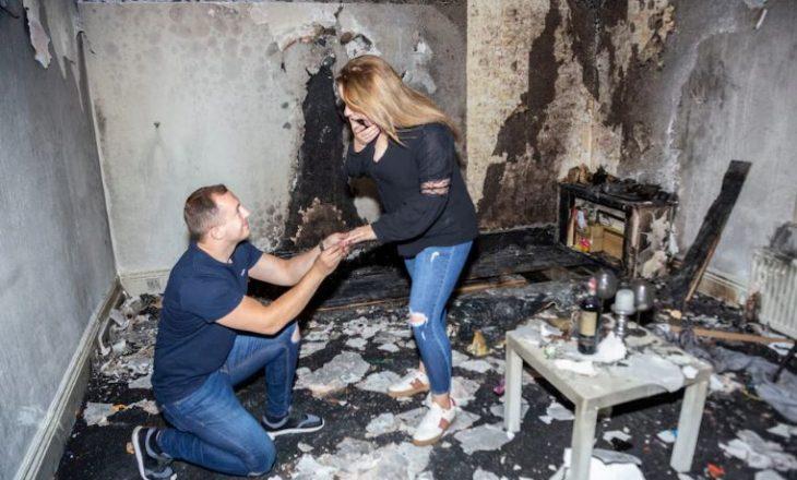 Për pak do të ishte propozimi perfekt për martesë – vetëm se ky shqiptar dogji shtëpinë