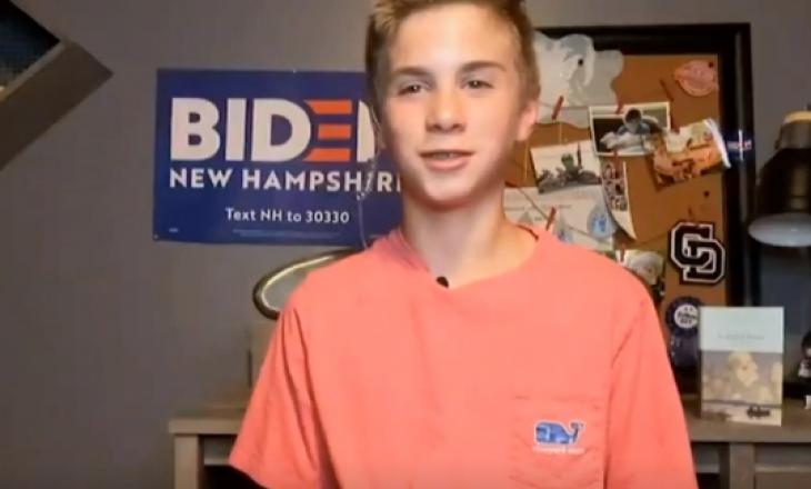 Tregimi inspirues i djaloshit që belbëzon për Joe Biden (VIDEO)