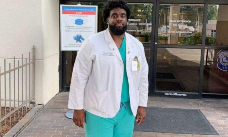 Dikur ishte roje sigurie në spital, tani po kryen praktikën si mjek në të njëjtin spital