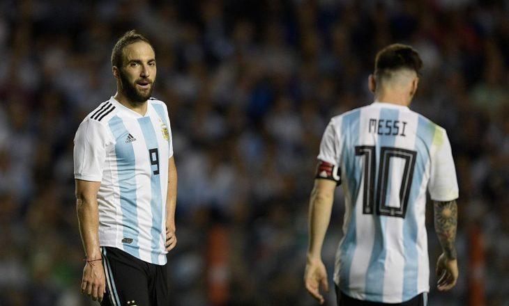 Higuain e këshillon Messi-n: Mos u transfero në Premier Ligë