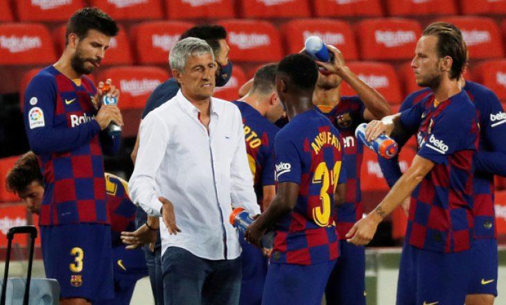 ZYRTARE: Barcelona e shkarkon trajnerin Quique Setien