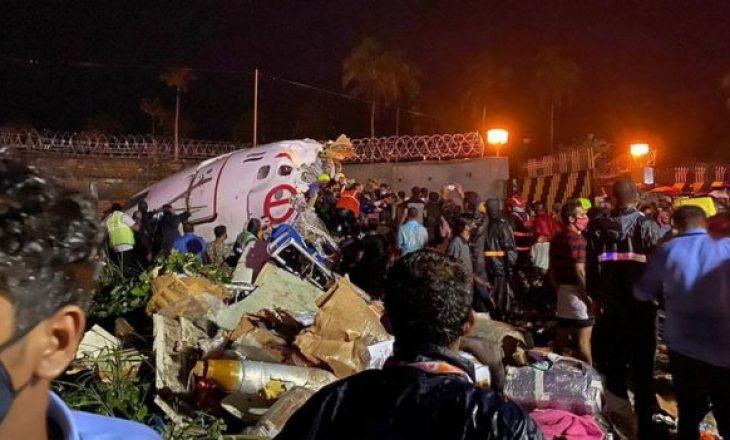 18 të vdekur nga rrëzimi i avionit në Indi (VIDEO)