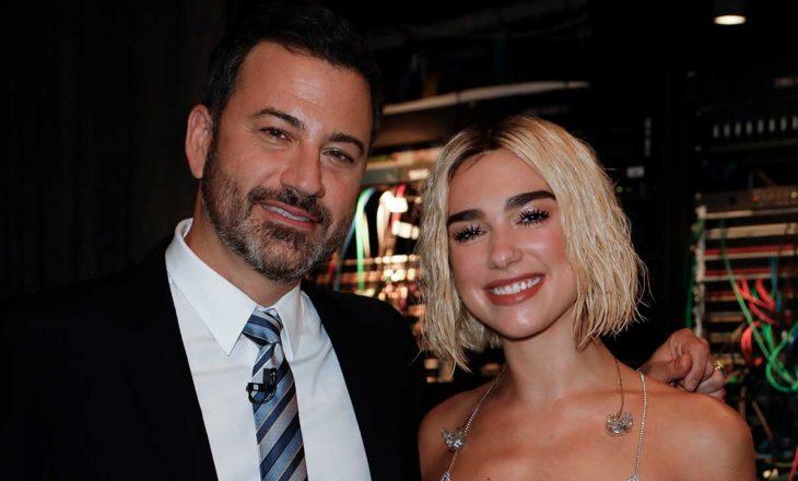 Dua Lipa kritikohet për monologun – Jimmy Kimmel i del në mbrojtje