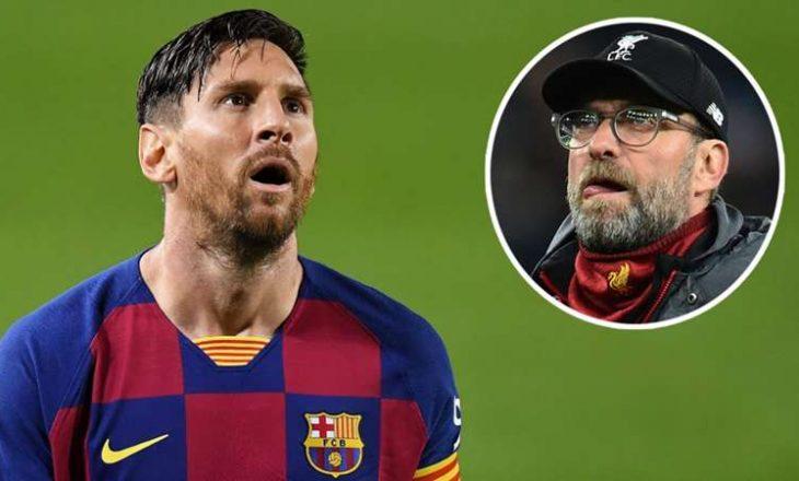 """Klopp: """"S'ka shanse"""" që Liverpool të nënshkruaj me Messi-n"""