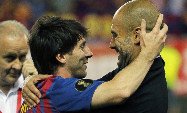 Messi në kontakt me Guardiolan