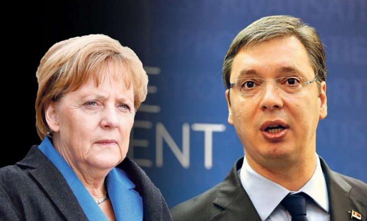 Vuçiq në telefon me Merkel, para takimit në Uashington