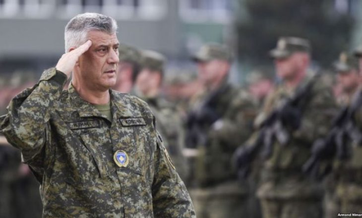 Thaçi fton qytetarët të bëhen pjesë e Ushtrisë