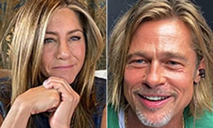 Brad Pitt dhe Jennifer Aniston flirtojnë në një skenë të nxehtë