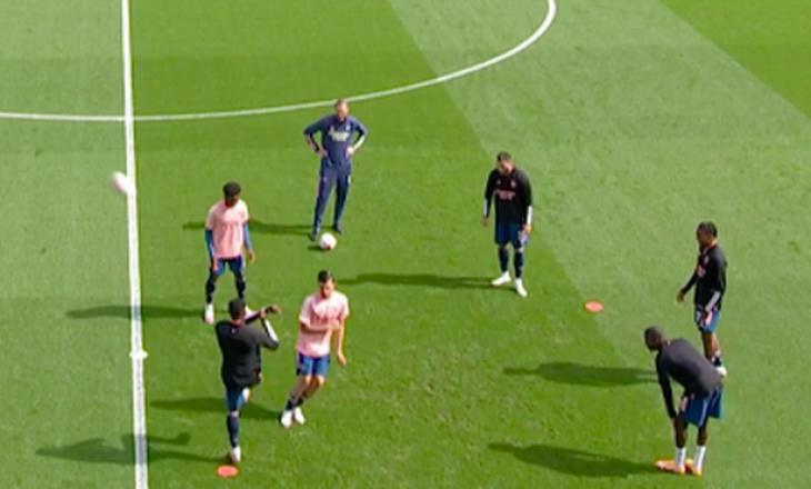 Tensione tek Arsenal – Ceballos dhe Nketiah përleshen para ndeshjes (VIDEO)