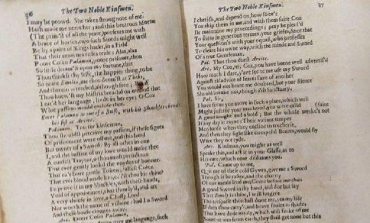 Një botim i rrallë i veprës së fundit të Shakespeare është gjetur në bibliotekën Royal Scots në Spanjë