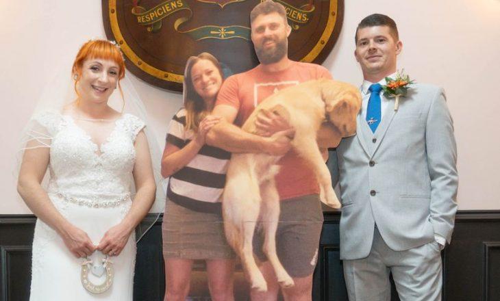 Çifti shpenzojnë 2.600 dollarë për të krijuar miqtë e tyre nga kartoni që të mos mungonin në dasmë