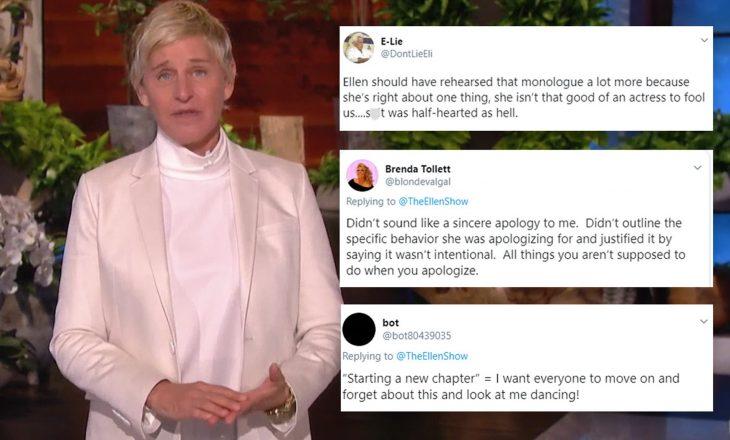 Kërkim-falja e 'çuditshme' e Ellen DeGeneres nuk po kënaqë askënd
