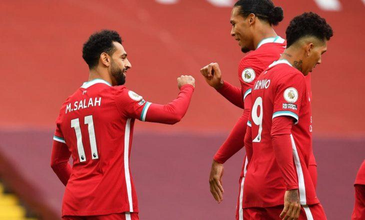 Pjesë e parë fantastike në Anfield – Liverpool ka shënuar 3 gola ndërsa Leeds 2