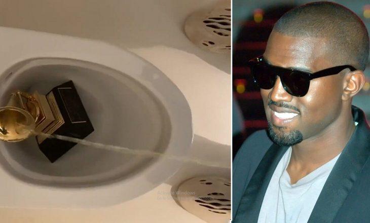 Kanye West xhiron veten duke urinuar në çmimin e tij Grammy
