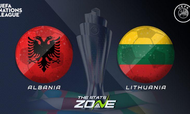 Formacioni zyrtar i Shqipërisë në ndeshjen me Lituaninë