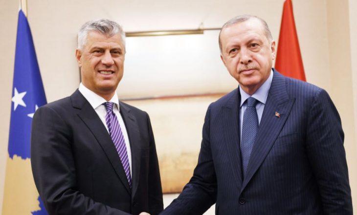 Thaçi takohet me Erdoganin në Stamboll